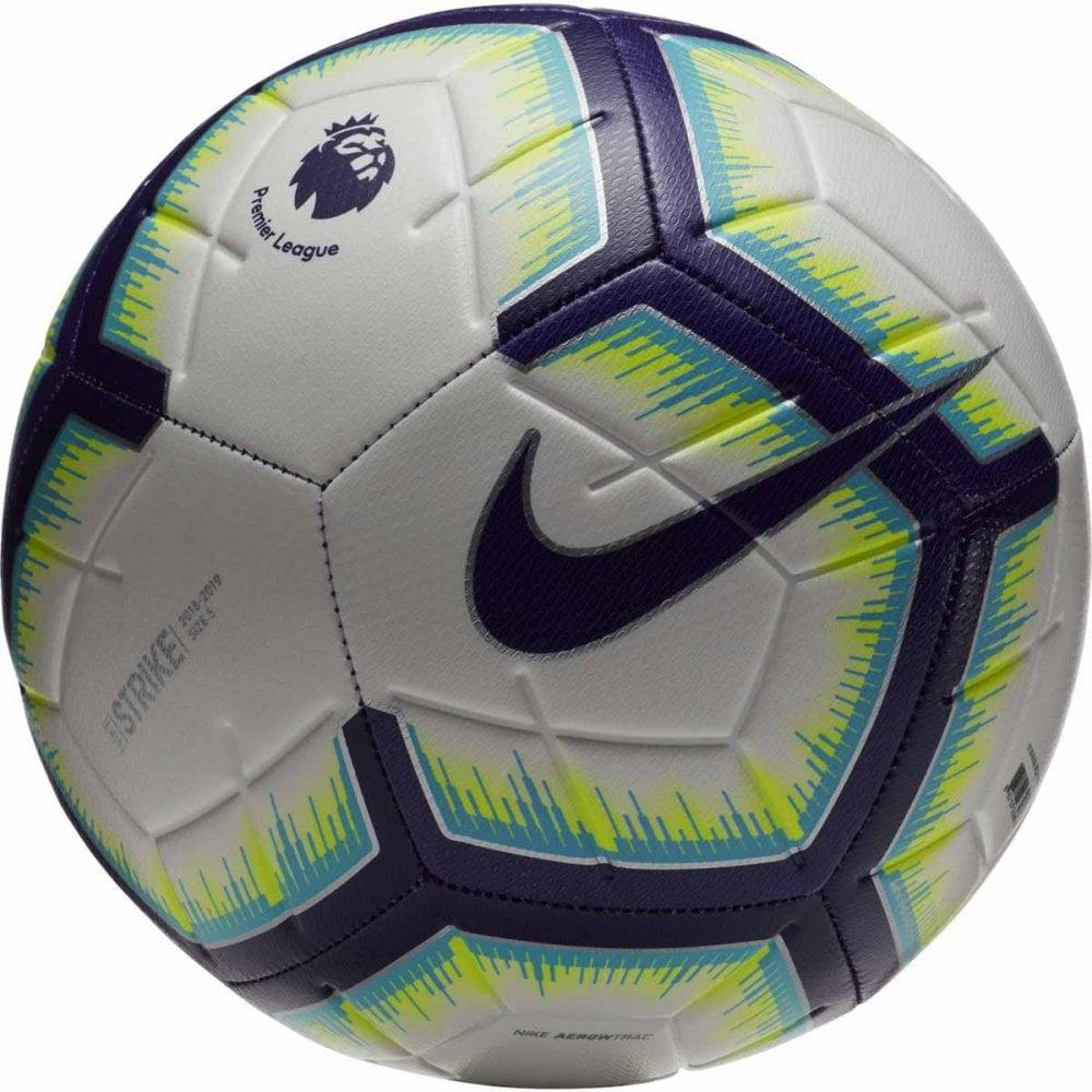 caddfeb95 Tap image to zoom. FA18 Premier League Strike Football -White/Blue/Purple