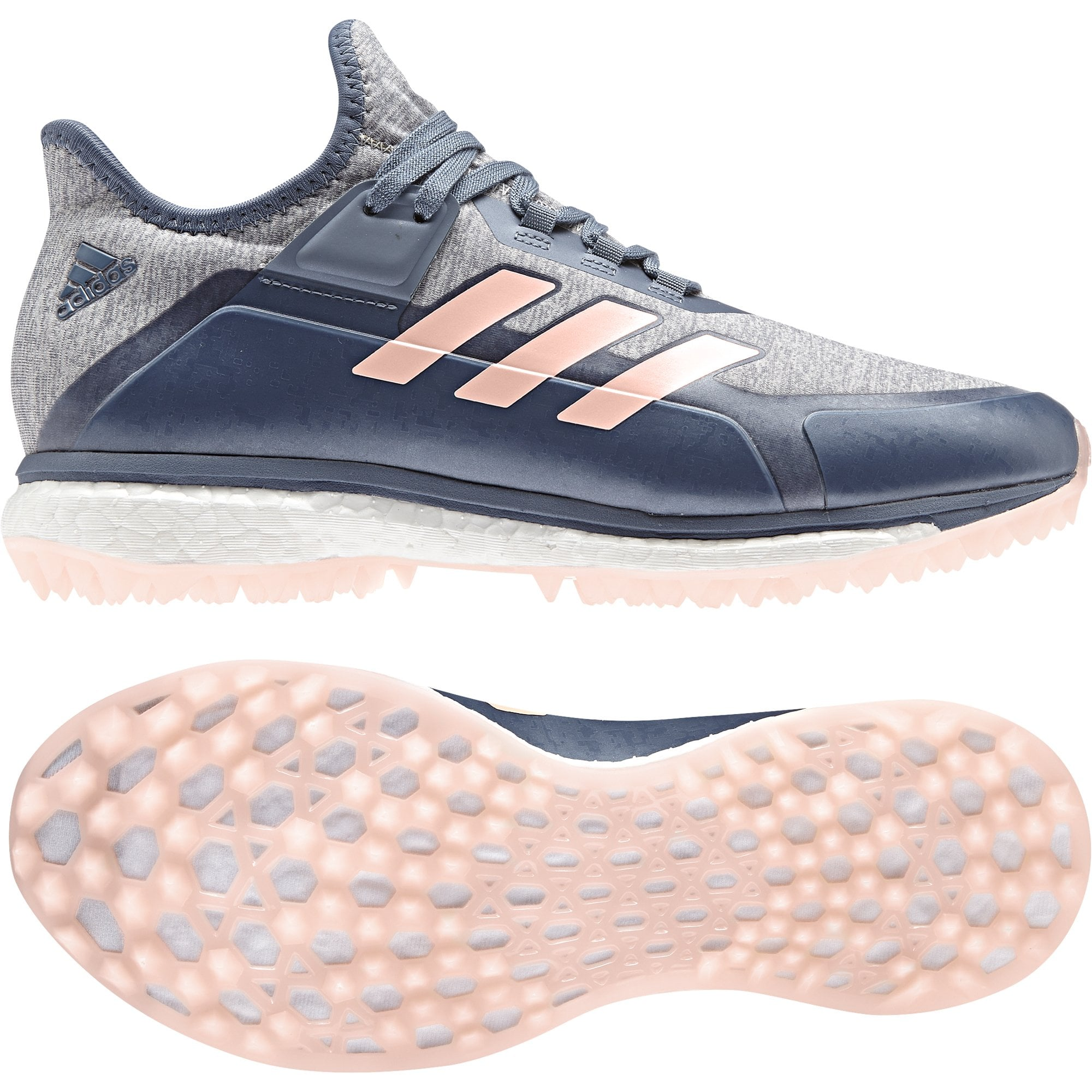 Fabela X Women's Hockey Shoes - Grey/Pink