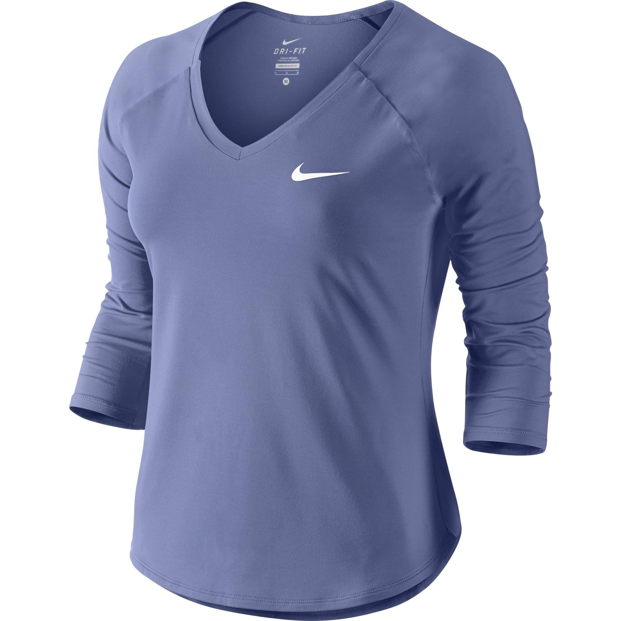 NIKE MEN/'S RUNNING SHIRT LONG SLEEVE COLOR  PURPLE LARGE DRI//FIT STAY WARM W//TAG