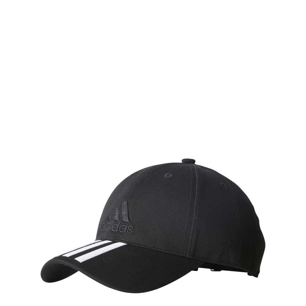 a72913635a2 Six-Panel Classic 3-Stripes Cap - Black White Black - Training from ...