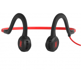 Sportz Titanium Microphone Headphones - Red/ Black