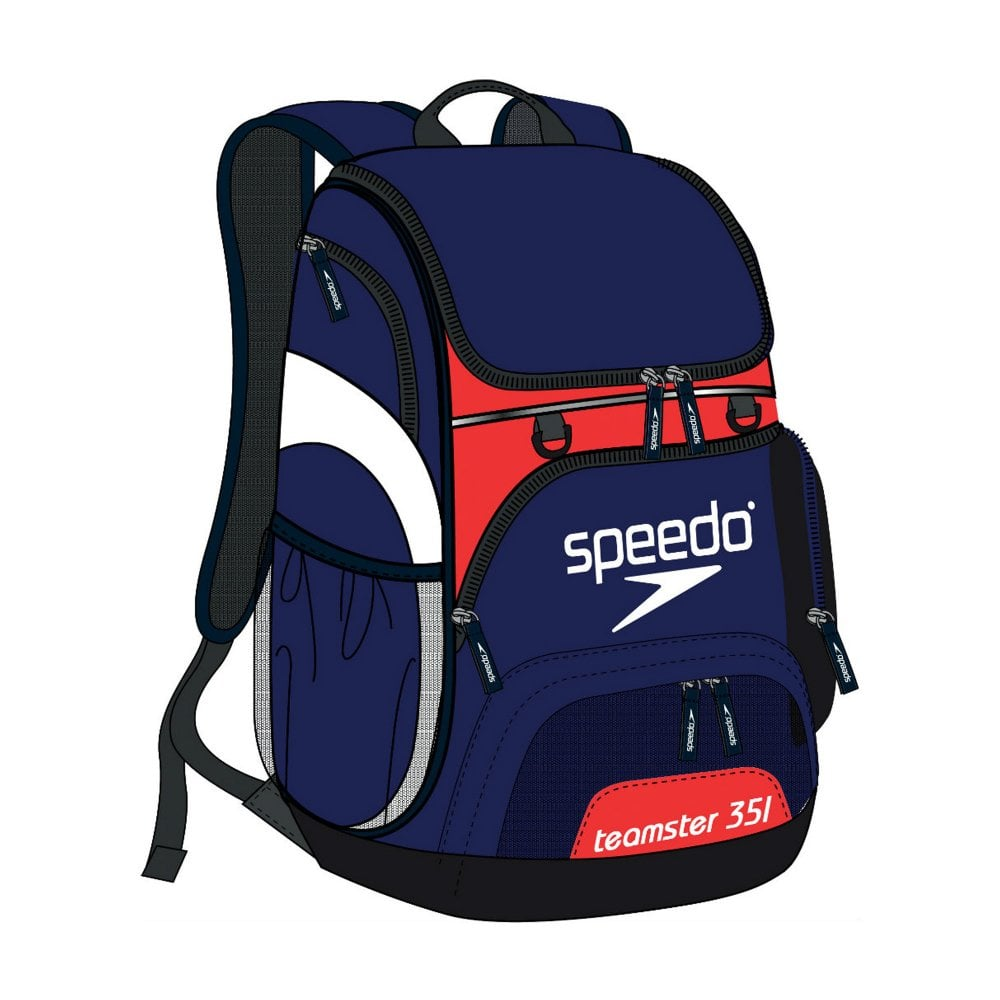 0049b283a6ed T-Kit Teamster Backpack Navy Red